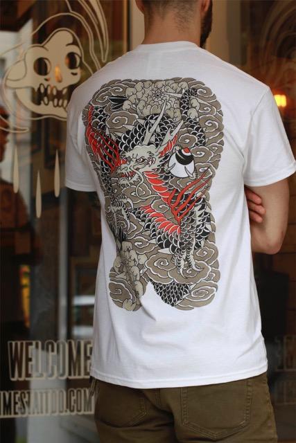 Japanase Dragon Backpiece T Shirt