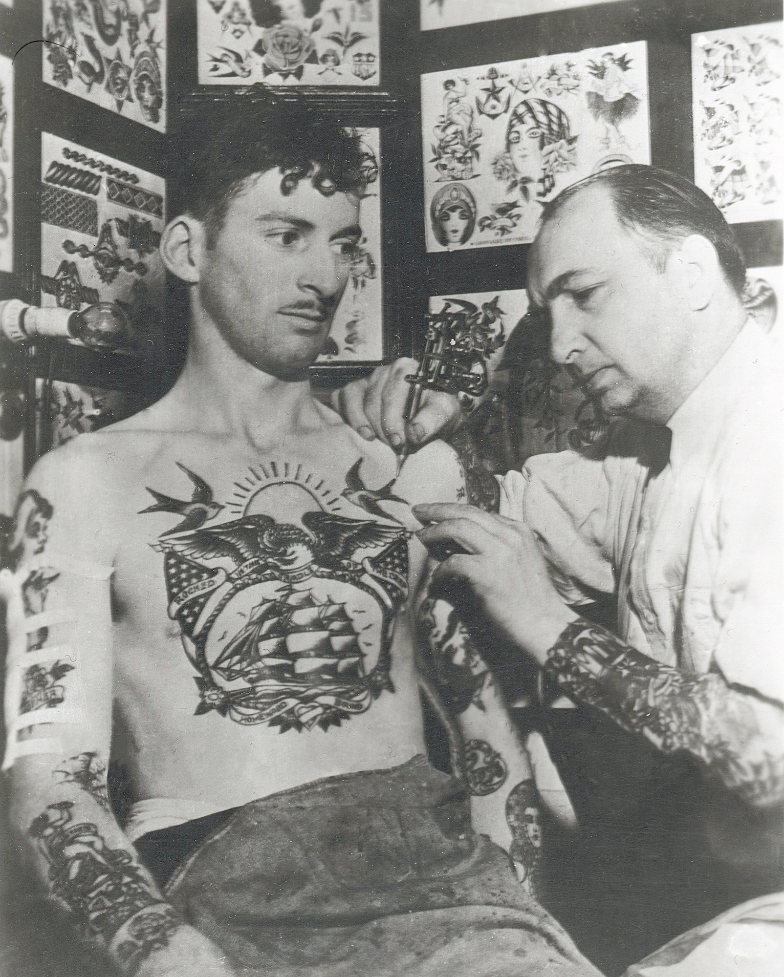 Owen Jensen tattooing