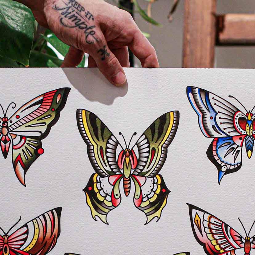 Tattoo Flash Schmetterling