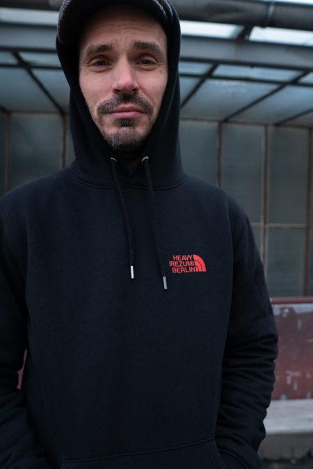 heavy irezumi in front of hoodie